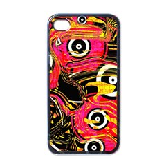 Abstract Clutter Pattern Baffled Field Apple Iphone 4 Case (black)