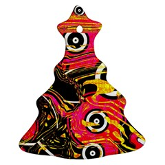 Abstract Clutter Pattern Baffled Field Christmas Tree Ornament (Two Sides)