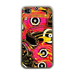 Abstract Clutter Pattern Baffled Field Apple Iphone 4 Case (clear)