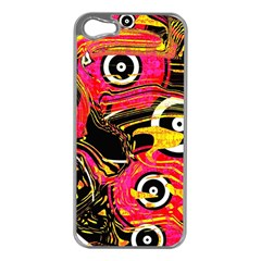 Abstract Clutter Pattern Baffled Field Apple iPhone 5 Case (Silver)