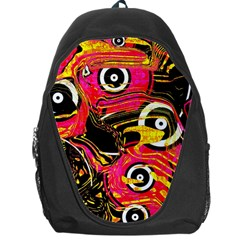 Abstract Clutter Pattern Baffled Field Backpack Bag