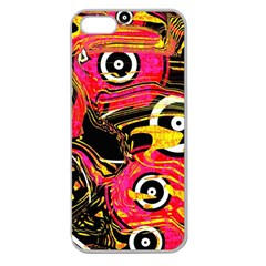 Abstract Clutter Pattern Baffled Field Apple Seamless iPhone 5 Case (Clear)