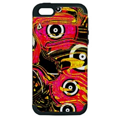 Abstract Clutter Pattern Baffled Field Apple iPhone 5 Hardshell Case (PC+Silicone)