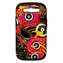 Abstract Clutter Pattern Baffled Field Samsung Galaxy S III Hardshell Case (PC+Silicone)