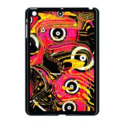 Abstract Clutter Pattern Baffled Field Apple iPad Mini Case (Black)