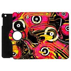 Abstract Clutter Pattern Baffled Field Apple iPad Mini Flip 360 Case