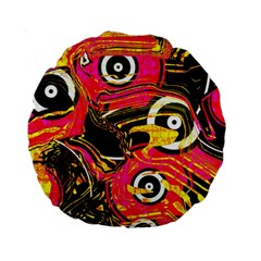Abstract Clutter Pattern Baffled Field Standard 15  Premium Round Cushions