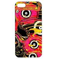 Abstract Clutter Pattern Baffled Field Apple iPhone 5 Hardshell Case with Stand