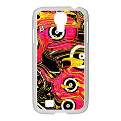 Abstract Clutter Pattern Baffled Field Samsung GALAXY S4 I9500/ I9505 Case (White)
