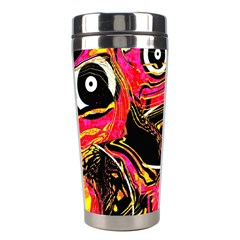 Abstract Clutter Pattern Baffled Field Stainless Steel Travel Tumblers