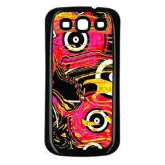 Abstract Clutter Pattern Baffled Field Samsung Galaxy S3 Back Case (black)