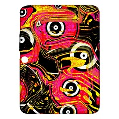 Abstract Clutter Pattern Baffled Field Samsung Galaxy Tab 3 (10.1 ) P5200 Hardshell Case