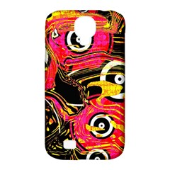 Abstract Clutter Pattern Baffled Field Samsung Galaxy S4 Classic Hardshell Case (PC+Silicone)
