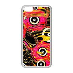Abstract Clutter Pattern Baffled Field Apple iPhone 5C Seamless Case (White)