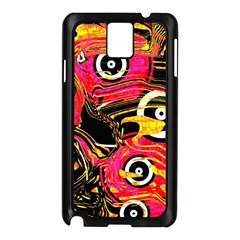 Abstract Clutter Pattern Baffled Field Samsung Galaxy Note 3 N9005 Case (Black)