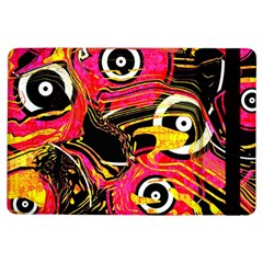 Abstract Clutter Pattern Baffled Field iPad Air Flip