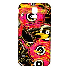 Abstract Clutter Pattern Baffled Field Samsung Galaxy S5 Back Case (White)