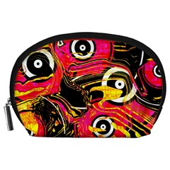 Abstract Clutter Pattern Baffled Field Accessory Pouches (Large)