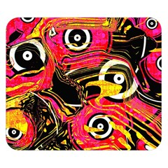 Abstract Clutter Pattern Baffled Field Double Sided Flano Blanket (small)