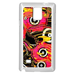 Abstract Clutter Pattern Baffled Field Samsung Galaxy Note 4 Case (white)