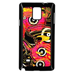 Abstract Clutter Pattern Baffled Field Samsung Galaxy Note 4 Case (black)