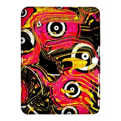 Abstract Clutter Pattern Baffled Field Samsung Galaxy Tab 4 (10.1 ) Hardshell Case