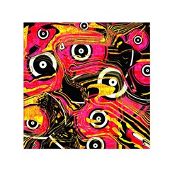 Abstract Clutter Pattern Baffled Field Small Satin Scarf (square)