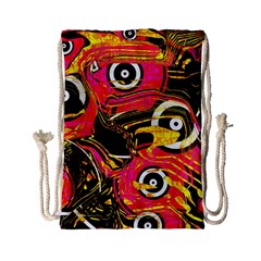 Abstract Clutter Pattern Baffled Field Drawstring Bag (small)