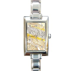 Abstract Composition Pattern Rectangle Italian Charm Watch