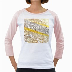 Abstract Composition Pattern Girly Raglans