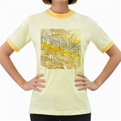 Abstract Composition Pattern Women s Fitted Ringer T Shirts
