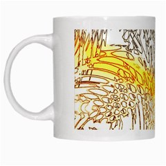 Abstract Composition Pattern White Mugs