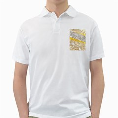 Abstract Composition Pattern Golf Shirts