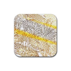 Abstract Composition Pattern Rubber Coaster (square)