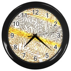 Abstract Composition Pattern Wall Clocks (black)