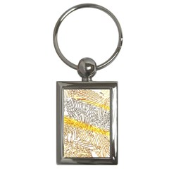 Abstract Composition Pattern Key Chains (rectangle)