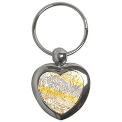 Abstract Composition Pattern Key Chains (Heart)