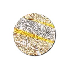 Abstract Composition Pattern Rubber Coaster (round)