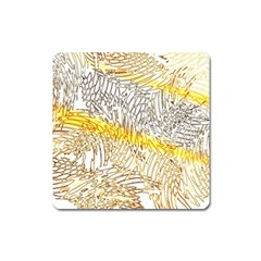 Abstract Composition Pattern Square Magnet