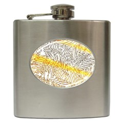 Abstract Composition Pattern Hip Flask (6 Oz)