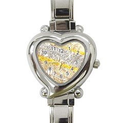 Abstract Composition Pattern Heart Italian Charm Watch
