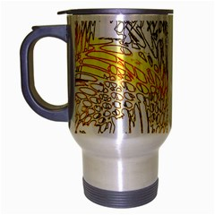 Abstract Composition Pattern Travel Mug (Silver Gray)