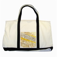 Abstract Composition Pattern Two Tone Tote Bag