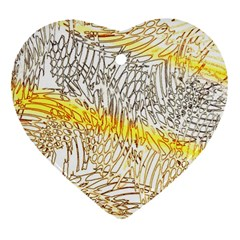 Abstract Composition Pattern Heart Ornament (two Sides)