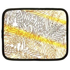 Abstract Composition Pattern Netbook Case (xxl)