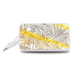 Abstract Composition Pattern Portable Speaker (White)