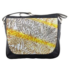 Abstract Composition Pattern Messenger Bags