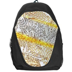 Abstract Composition Pattern Backpack Bag