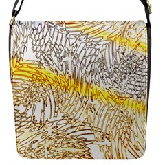Abstract Composition Pattern Flap Messenger Bag (S)