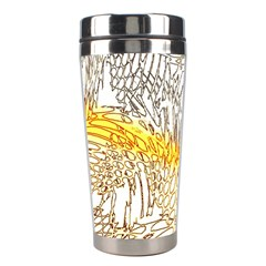 Abstract Composition Pattern Stainless Steel Travel Tumblers